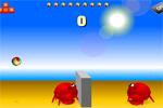 Krabben Beachvolleyball