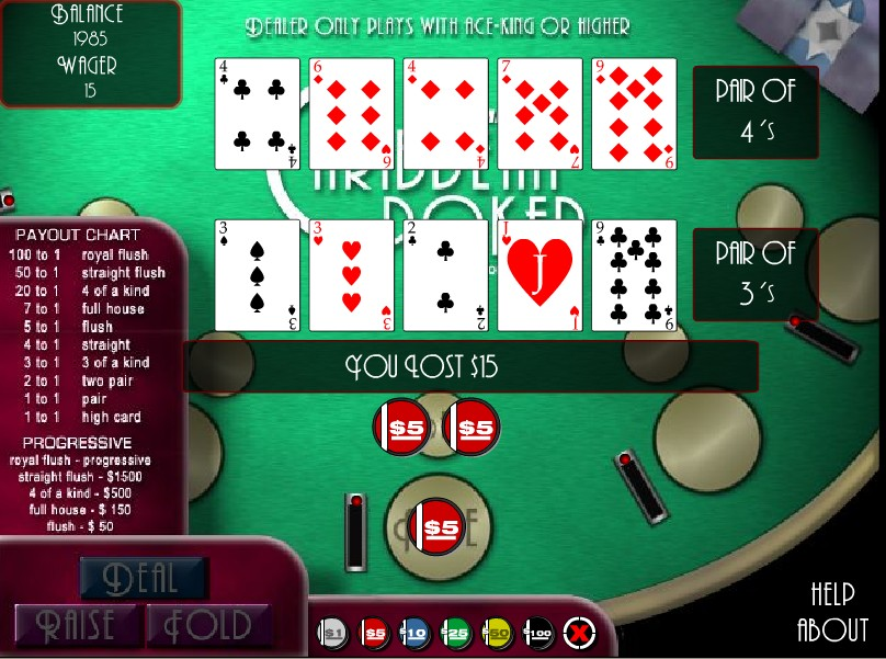 free flash poker online